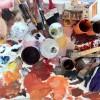 paint and studio scene of Tomasi studio