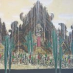 painting by Made Wiradana of Balinese Temple