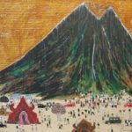 painting of Mount Batur by Made Wiradana