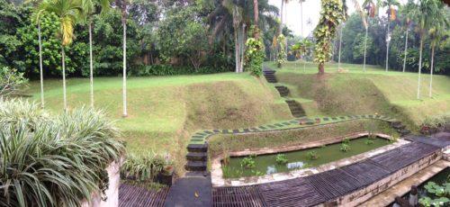 lush grass garden view of Bali Purnati