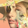 GAGA: Five Foot Two art from Netflix featuring painted closeup of Gaga in a hat with flowers