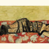 "Henri Matisse's ""The Black Shawl"" depicting a loosely painted reclining female figure wearing black lace"
