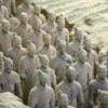 Close up of terra cotta warriors in Xi'an China Getty